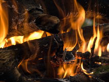 A tourist fire 2. Smoldering charcoal of a burning fire Stock Photo