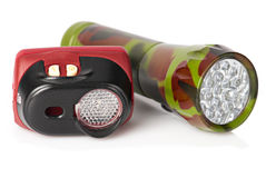 Tourist flashlights Royalty Free Stock Image