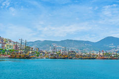 The tourist fleet of Alanya Royalty Free Stock Images