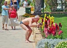 Tourist - Fotograf Stockfoto