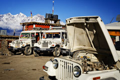 A tourist four-wheel drive vehicle Royalty Free Stock Photography