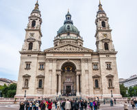 Tourist front of St. Stephen's Basilica Royalty Free Stock Image