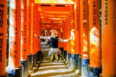 Tourist at Fushimi Inari Royalty Free Stock Images