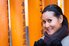 Tourist in Fushimi Inari Shrine at Kyoto Stock Photography
