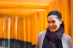 Tourist in Fushimi Inari Shrine at Kyoto Royalty Free Stock Images