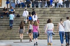 Tourist in Galicia Stock Photo