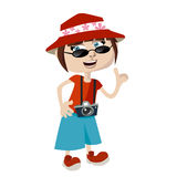Tourist girl Stock Image