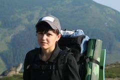 Tourist girl Stock Photo