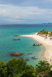 Tourist go to Koh Lipe sunrise beach by longtail boat Stock Photo