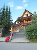 The tourist goes to a country house to Zakopane, Poland Stock Images