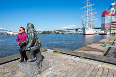 Tourist in Gothenburg, Sweden Royalty Free Stock Images