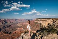 Tourist at Grand Canyon. Arizona, USA Stock Image