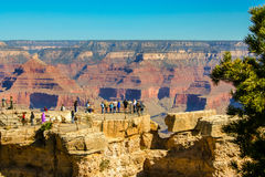Tourist at the Grand Canyon Royalty Free Stock Photo