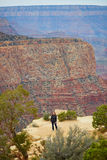 Tourist in Grand Canyon National Park Royalty Free Stock Photos