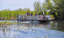 Tourist Group in the Danube Delta Royalty Free Stock Images