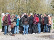 Tourist group in Kaunas Stock Photos