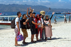Tourist group selfie Stock Images