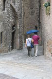 Tourist in Gubbio Umbria Royalty Free Stock Image
