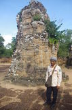 Tourist guide at East Mebon Royalty Free Stock Photos