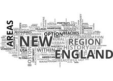 A Tourist Guide To New England Word Cloud. A TOURIST GUIDE TO NEW ENGLAND TEXT WORD CLOUD CONCEPT vector illustration