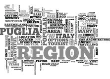 A Tourist Guide To Puglia Word Cloud Royalty Free Stock Image