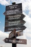 Tourist guidepost Stock Photo