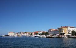 Tourist harbor in Porec  in Croatia in the summer day. Stock Photo