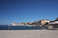 Tourist harbor in Porec  in Croatia in the summer day. Royalty Free Stock Photos