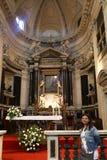 Tourist am Heiligen Mary Major Basilica - Rom Stockfotografie