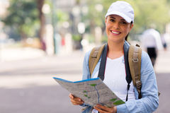 Tourist holding map Stock Photography