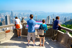 Tourist in Hong Kong Stock Image