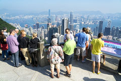 Tourist in Hong Kong Royalty Free Stock Photo