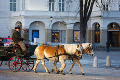 Tourist horse carriage, Salzburg Royalty Free Stock Photo