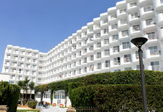 Tourist hotel on island of Majorca Royalty Free Stock Photos