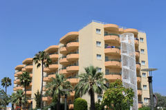 Tourist hotel on island on Majorca Stock Photography