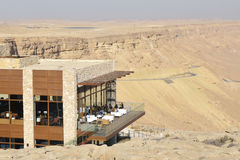 Tourist hotel in Negev desert. Royalty Free Stock Images