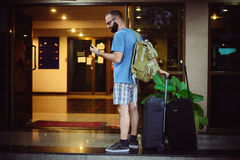 Tourist in the hotel Royalty Free Stock Photo