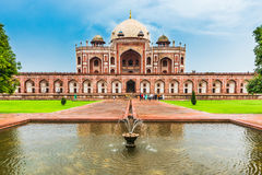 Tourist at Humayun`s Tomb, Delhi, India Stock Photography