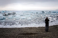 Tourist in Iceland Stock Photography