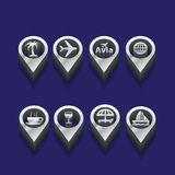 Tourist icons in isometric Royalty Free Stock Photo