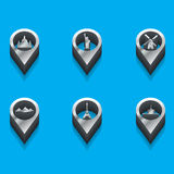 Tourist icons in isometric Stock Photos