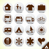 Tourist icons set Royalty Free Stock Photos