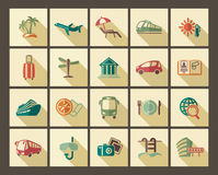 Tourist icons Royalty Free Stock Images