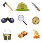 Tourist icons Royalty Free Stock Photography