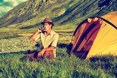 Tourist im Lager Stockfotos