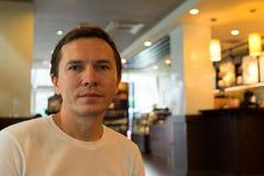 Tourist im Restaurant stockbilder