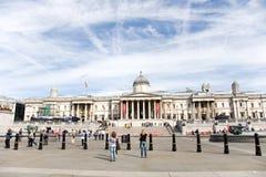 Tourist im Trafalgar Quadrat lizenzfreies stockfoto