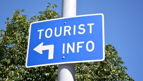 Tourist Info Sign Stock Images