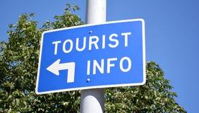 Tourist Info Sign. Blue tourist information sign Stock Images