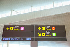 Tourist info signage in airport Royalty Free Stock Photos